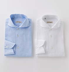 ONE PIECE COLLAR LINEN SHIRTS