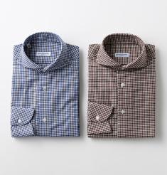 MONTESARO COTTON FRANNEL GINGHAM CHECK SHIRTS