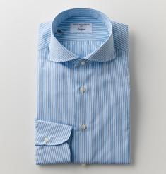 WIDE COLLAR 170/2 COTTON TWILL LONDON STRIPE SHIRTS