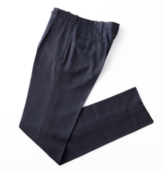 1PLEATS WOOL HOUND TOOTH PANTS