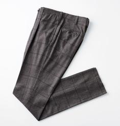 1PLEATS WOOL GLEN CHECK PANTS