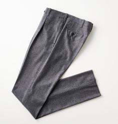 1PLEATS WOOL FLANNEL PANTS