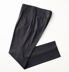1PLEATS WOOL BASKET WEAVE PANTS