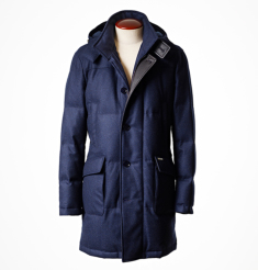 WOOL CASHMERE DOWN COAT