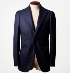WOOL SILK HERRINGBONE 3B JACKET