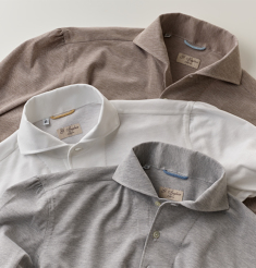 MASTROIANNI COTTON PIQUE POLO SHIRTS