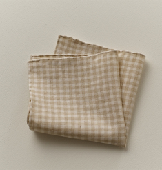 LINEN GINGHAM CHECK POCKET CHIEF