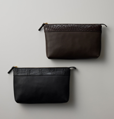 ALLIGATOR×DOLCE CALF SMALL CLUTCH